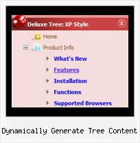 Dynamically Generate Tree Content Tree Drop Down Menus