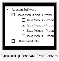 Dynamically Generate Tree Content Tree Cascading Menu