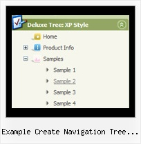 Example Create Navigation Tree Using Apex Dynamic Html Tree Collapsing Menu