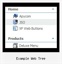 Example Web Tree Tree Menue Tutorial