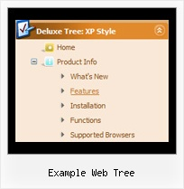 Example Web Tree Tree Mouse Over Popup Menu