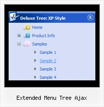 Extended Menu Tree Ajax Menu Slide Tree Example