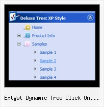 Extgwt Dynamic Tree Click On Treeitem Transparent Frame Tree