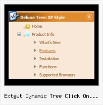 Extgwt Dynamic Tree Click On Treeitem Tree Flyout Links