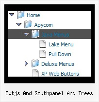 Extjs And Southpanel And Trees Vertical Scroll Navigation Tree