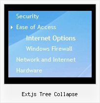 Extjs Tree Collapse Tree Drop Down Menus