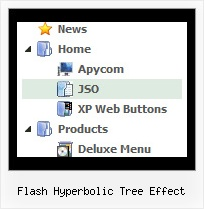 Flash Hyperbolic Tree Effect Menu Desplegable Tree Vertical