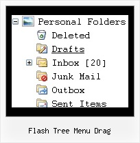 Flash Tree Menu Drag Tree Popup On Mouse Over
