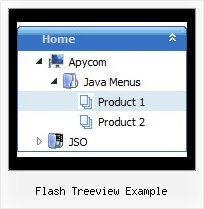 Flash Treeview Example Simple Submenu Vertical Tree
