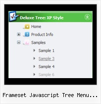 Frameset Javascript Tree Menu Example Tree Collapsible Navigation
