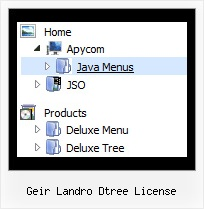 Geir Landro Dtree License Menu Flyout And Expanding Tree