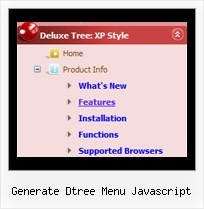 Generate Dtree Menu Javascript Dhtml Tree Navigation