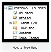 Google Tree Menu Vertical Expand Menu Tree