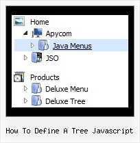 How To Define A Tree Javascript Dhtml Vertical Tree