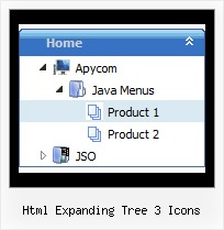 Html Expanding Tree 3 Icons Frame Scrolling Tree