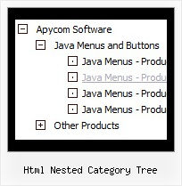 Html Nested Category Tree Tree Menu Scrolling