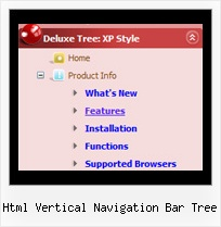 Html Vertical Navigation Bar Tree Menu Desplegable Con Tree View
