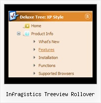 Infragistics Treeview Rollover Tree Horizontal Menu Relative Position