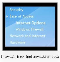 Interval Tree Implementation Java Tree Menu Mouseover Dropdown