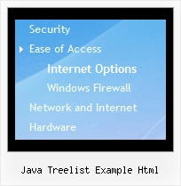 Java Treelist Example Html Tree View Dropdown Menu Frame
