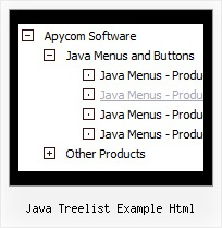 Java Treelist Example Html Tree Hover Dropdown Menu
