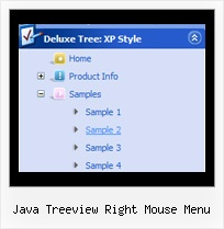 Java Treeview Right Mouse Menu Sliding Page Tree