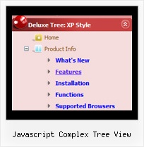 Javascript Complex Tree View Tree Floating Menu Position Relative