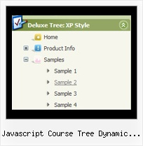 Javascript Course Tree Dynamic Outline Tree Scroll Examples
