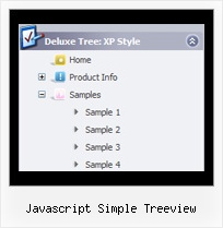 Javascript Simple Treeview Tree Dynamic Popup Menu