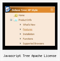 Javascript Tree Apache License Drop Down Menu Cascading Tree