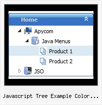 Javascript Tree Example Color Coded Html Tree Slide Menu