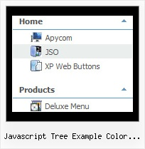 Javascript Tree Example Color Coded Sliding Frame Tree