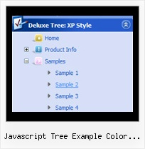 Javascript Tree Example Color Coded Sliding Tree Menus
