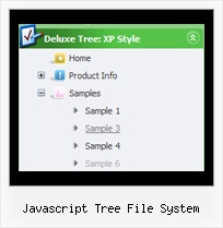 Javascript Tree File System Floating Sliding Menu Tree