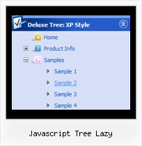 Javascript Tree Lazy Vertical Tree Mouseover Menu