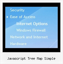 Javascript Tree Map Simple Tree Horizontal Menus