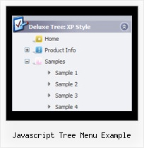 Javascript Tree Menu Example Dynamic Menus Html Tree