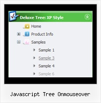 Javascript Tree Onmouseover Top Navigation Bar Tree