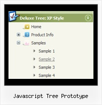 Javascript Tree Prototype Down Menu Tree View