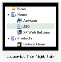 Javascript Tree Right Side Tree Fade Hover