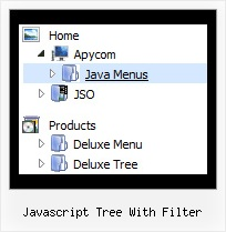Javascript Tree With Filter Menu Cascade En Tree