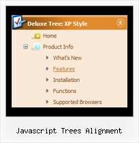 Javascript Trees Alignment Tree Pull Down Menu Example