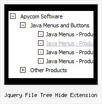 Jquery File Tree Hide Extension Horizontal Tree Dhtml Menu