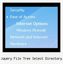 Jquery File Tree Select Directory Tree Expandable Menu Fireworks