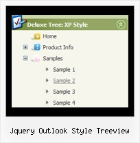 Jquery Outlook Style Treeview Tree Menu Html