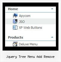 Jquery Tree Menu Add Remove Toolbar Javascript Tree
