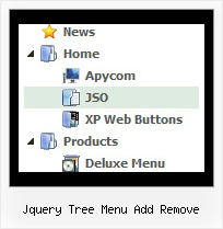 Jquery Tree Menu Add Remove Tree Mouse Over Drop Down