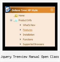 Jquery Treeview Manual Open Class Menu By Tree