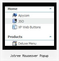Jstree Mouseover Popup Menu Xml Tree Popup