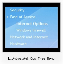 Lightweight Css Tree Menu Drop Down Menu Tree States